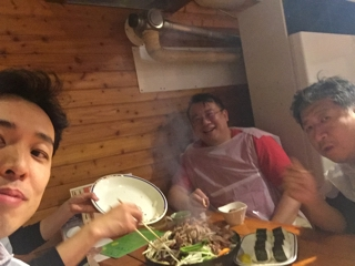 Dr. Edwin Heng氏とジンギスカンを食べる