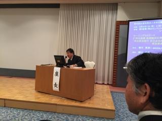 インプラント学会・増木理事長が座長2